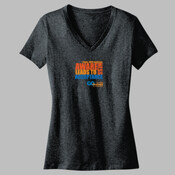 LADIES V-NECK T | Awareness Design | Sizes 8 to 18 | Charcoal/Grey