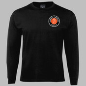 LONG SLEEVE T | College Design | Sizes 12 to 3XL | Black