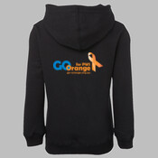 HOODIE | Go Orange Design on the Back | Sizes 4 to 5XL | Black